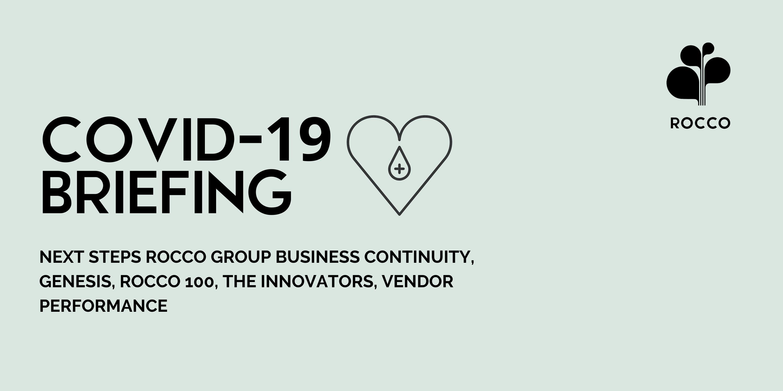 COVID 19 Briefing