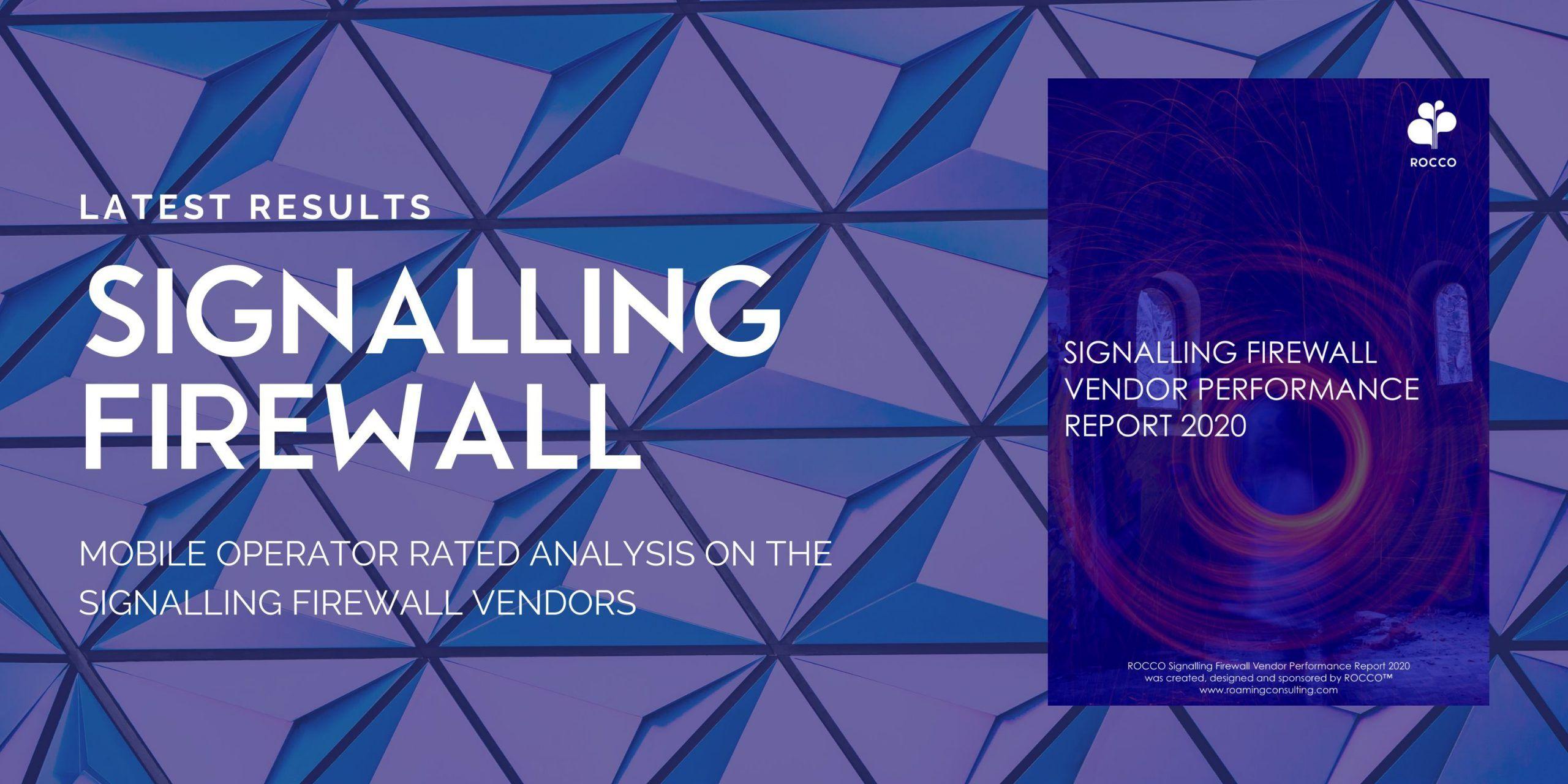 RESULTS: Signalling Firewall Vendor Performance 2020