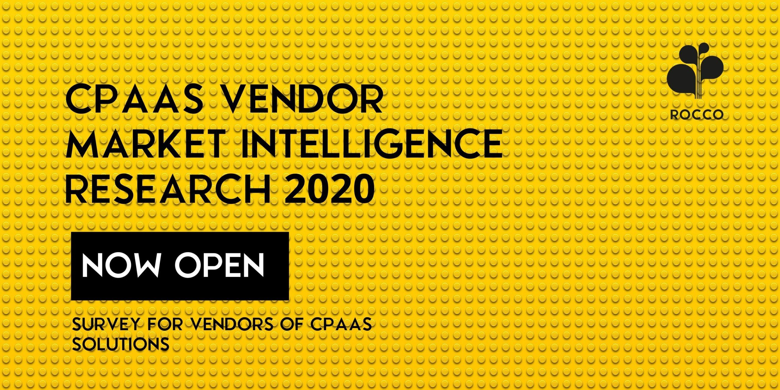 Launch: New CPaaS Vendor Market Intelligence Research starts today